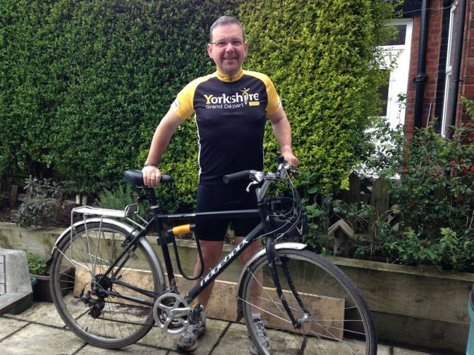 Committee member cycles for charity