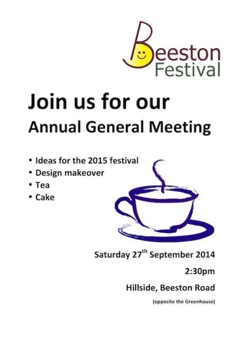 Beeston Festival AGM poster 2014